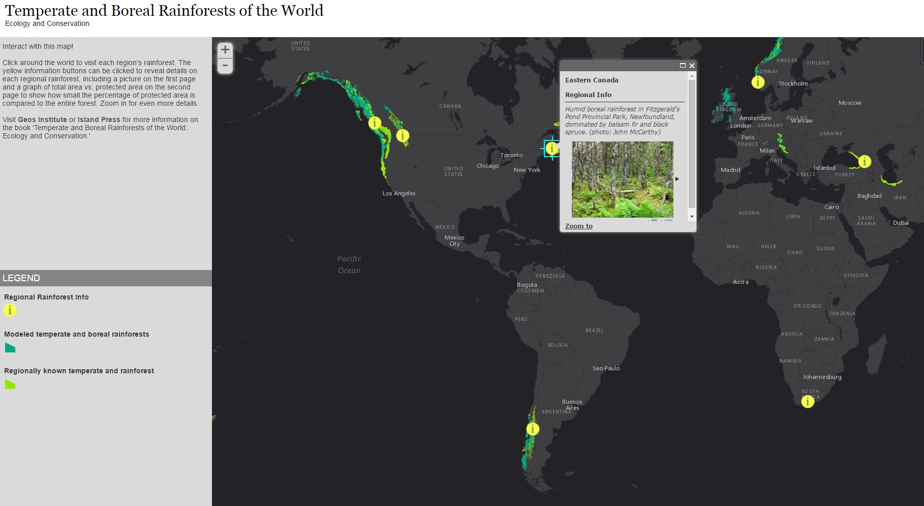 Temperate Rainforest World Map.Temperate Rainforest Interactive Story Map